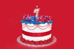7ο κέικ Στοκ Εικόνες