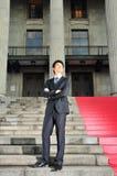 7个亚洲人执行委员等待的年轻人 免版税库存图片
