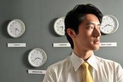 7个企业时钟办公室 免版税库存照片
