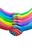 7个协议颜色 库存图片