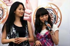 7个女孩新加坡奇迹 库存照片