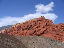7个峡谷红色岩石 库存照片