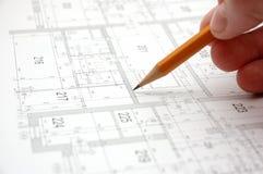 7个建筑计划 免版税库存照片