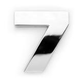 7个数字金属 免版税图库摄影