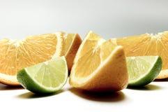 7个柠檬桔子 免版税库存照片