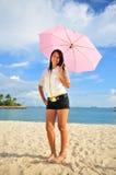 7个海滩乐趣 库存图片