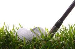 7个球高尔夫球高草的铁 免版税库存照片