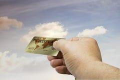 7个看板卡赊帐 免版税库存照片