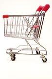 7个背景购物台车白色 免版税库存图片