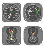 7个航空器测量仪 免版税库存照片