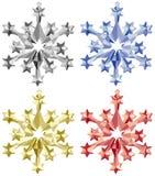 7件圣诞节装饰品卷 免版税库存图片