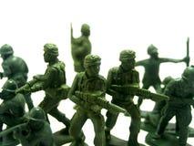7位战士玩具 免版税库存照片