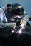 7位焊工工作 库存图片
