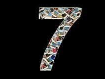 7做的图-照片拼贴画 免版税库存图片