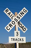 7克服的铁路符号 库存图片