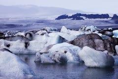 7冰河湖 库存照片