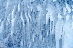 7冻结瀑布 免版税图库摄影