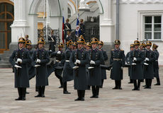 7卫兵克里姆林宫莫斯科 免版税图库摄影
