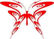 7只蝴蝶火焰状部族向量 库存照片