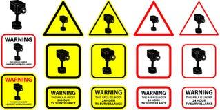 7台照相机证券向量 免版税库存照片