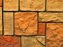 7块砖模式石墙 库存照片