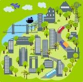 7城市 向量例证