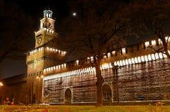 7座城堡中世纪晚上 免版税图库摄影