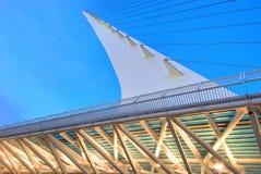 7座桥梁结构日规 免版税库存照片