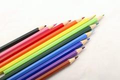 7支颜色铅笔 免版税库存图片