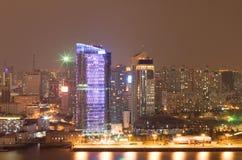 7晚上上海 免版税库存图片
