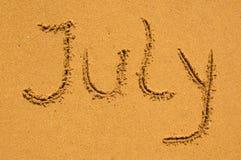 7月沙子 免版税库存图片