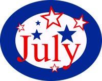 7月 向量例证