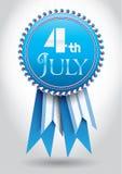 7月4日丝带向量 免版税库存图片