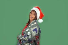 7美丽的辅助工s圣诞老人 库存图片