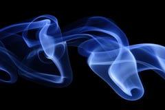 7蓝色烟 库存照片