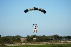 7跳伞运动员 免版税库存照片