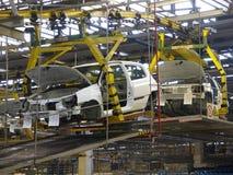 7辆汽车生产 库存图片