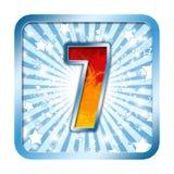 7 αριθμοί επτά εορτασμού αλφάβητου Στοκ φωτογραφία με δικαίωμα ελεύθερης χρήσης