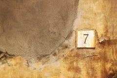 7 αριθμός Στοκ Εικόνες