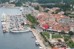 7 επάνω από την παλαιά όψη πόλεων Στοκ εικόνα με δικαίωμα ελεύθερης χρήσης
