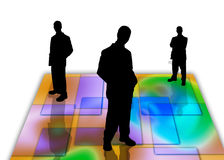 7 σκιές επιχειρηματιών διανυσματική απεικόνιση