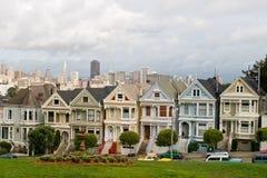 7 σπίτια βικτοριανά στοκ εικόνα με δικαίωμα ελεύθερης χρήσης