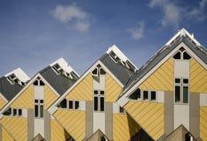 7 домов кубика Стоковое Изображение