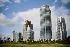 7 зданий пляжа южных Стоковое Фото