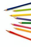 7 карандашей цвета Стоковая Фотография RF