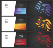 7 карточек встали на сторону 2 vising Стоковое Фото