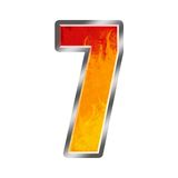 7 пламен алфавита 7 иллюстрация вектора