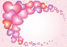 7 сердец nacreous Стоковое фото RF