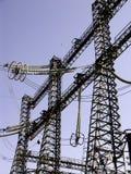 7 электрических полюсов стоковые фотографии rf