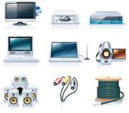 7个工具家庭图标分开向量 免版税库存图片